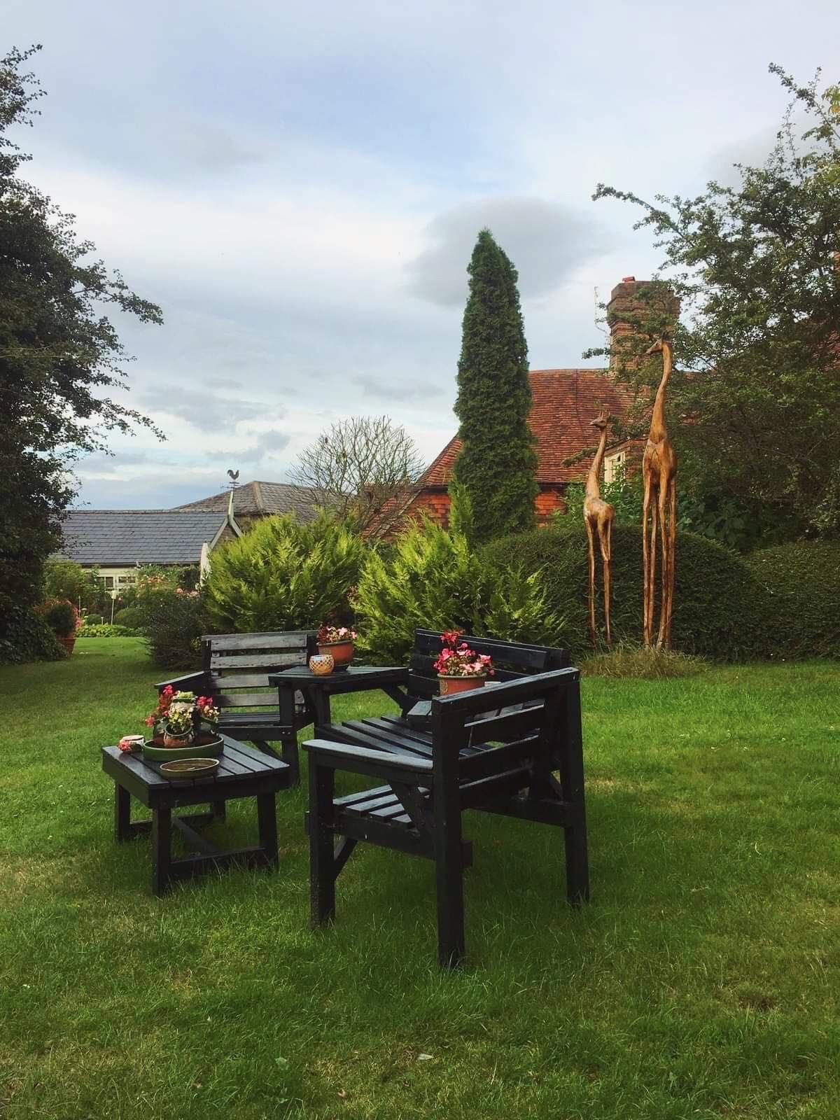 cottage chic anglais jardin à l'anglaise